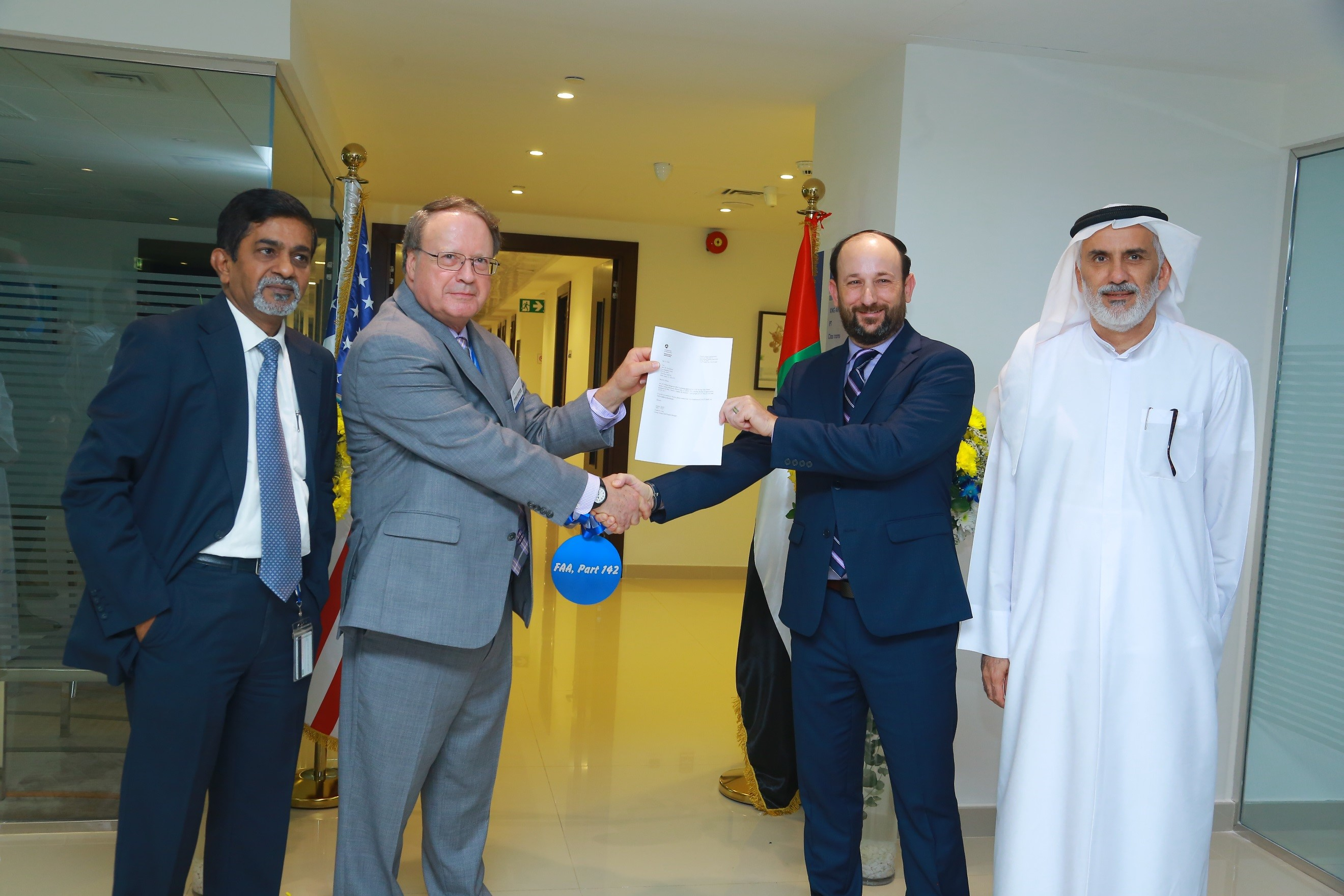 CAE and Abu Dhabi Aviation Training Centre receive FAA Part 142 certification for new Embraer ERJ145